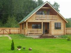 "Complete country houses,  ""Hut felling"