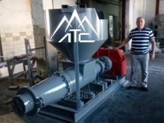 Equipment for production of briquettes