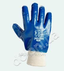 Los guantes los obreros nitrilovye, el cubrimiento completo, el puño-polaina, 10размер Doloni 1/12