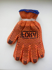 Gloves workers orange with the drawing PVC black Fora, the 7th klass10 the Doloni 1/10/300 size