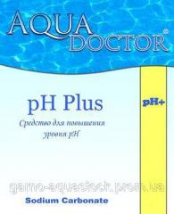 Means for increase in acidity of water (pHplus) in granules of 5 kg rn +