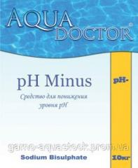 Means for decrease in acidity of water (pHminus) in granules of 5 kg rn-