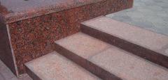 El granito Kapustinsky, el revestimiento de las fachadas por el granito rojo de 20 mm 1802