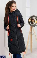 Пальто Natali чёрное G-9768