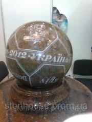 توپ از سنگ طبیعی