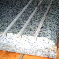 Покостовский гранит ступени с серого гранита 30 мм  064