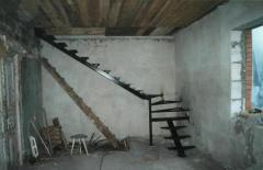 Metal frames of ladders