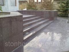 Tokovskiy Granit dunklen purpurnen Farbton 600 x 300 x 20 312