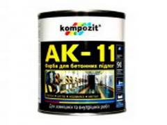 Paint for concrete floors of AK-11