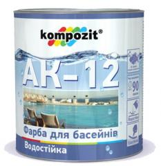 Paint for pools of AK-12