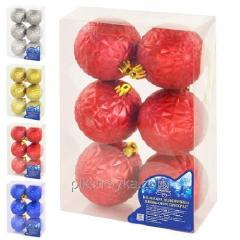 New year Toy ball set of 7 of cm 6sht/box 8392