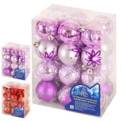 New year Toy ball set of 6 of cm 24sht/flask 8525