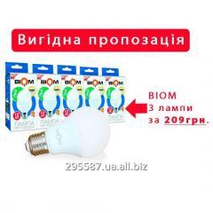 Набор Светодиодных ламп Biom BT-512 A60 12W E27 4500К
