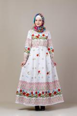 Dress Poppies in ethnic style
