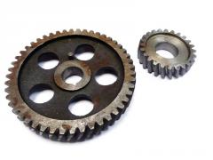 Production by a gear wheel
