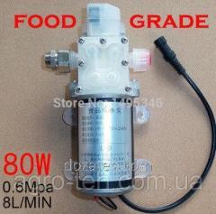 Мембранный пищевой насос 70 Вт,  6 л/мин