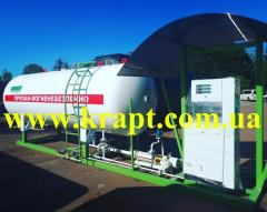 Autogas-filling point (AGZP, AGZS with a volume of