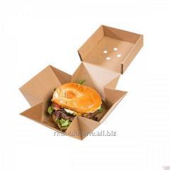 Коробка для готового гамбургера