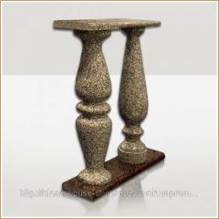 Baluster Granit gemeißelt 800h180