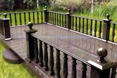 Granite plinth,  balusters,  stone railing 21