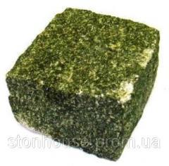 Гранитная брусчатка улучшенная Маславская зеленая