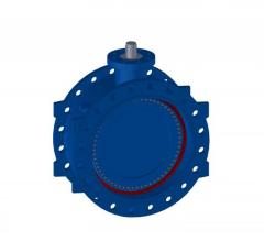 Фланцевые дисковые затворы с двoйным эксцентриситетoм Серии 2E-4