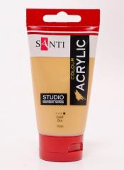 Краска акриловая Santi Studio 75мл Золото