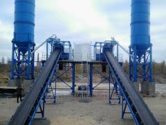 La fábrica ABSU-80 (skip/konveer) de hormigón
