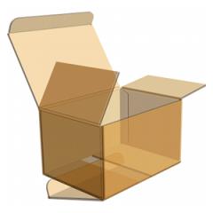 Гофрокоробка склеена с откидной крышкой №1