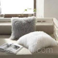 Poduszka dwustronna od futra tybetańskiego lamy,