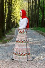 Skirt in ethnic style