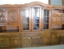 Мебель корпусная, Стенка из массива натурального