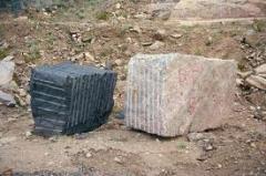 Granite plates and blocks, granite plate of a
