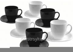 Service the tea 12 ave. - a cup of 6 pieces 220 ml of Carine B&W Luminarc 1/1