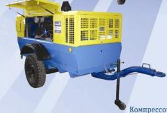 Station compressor mobile PKSD of 5,25 DM