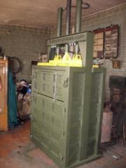 Пресс для отходов гидравлический двухцилиндровый