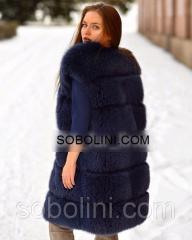 Очень красивый и удобный жилет из меха финского