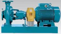 Centrifugal pumps with axial absorption of