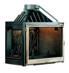 Chimney fire chamber of Seguin Europa 7 with side