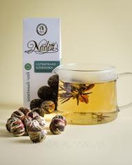 Чай вязанный белый элитный Серебряная клубника,