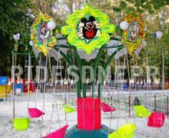 Дитячий пересувний атракціон «Ланцюгові каруселі»,  призначений для розваги і активного відпочинку дітей дошкільного та молодшого віку