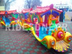 «Паровоз на рейках»  - дитячий стаціонарний атракціон «Залізниця», призначений для розваги дітей дошкільного та молодшого віку