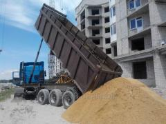 Песок вознесенский с доставкой от 35 тонн