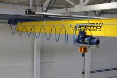 Beam crane suspended electric