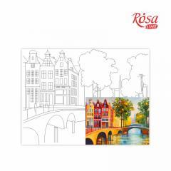 Холст на картоне с контуром Амстердам 30х40 см, GPA284201