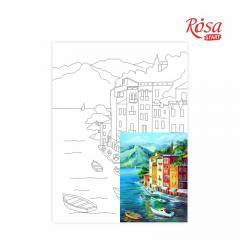 Холст на картоне с контуром Морские пейзажи №1 30х40 см, GPA283901