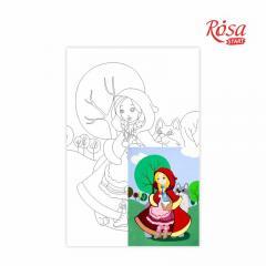 Холст на картоне с контуром Красная Шапочка 20х30 см. GPA283138