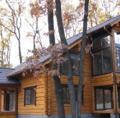 Okna drewniane do chaty i domy wiejskie