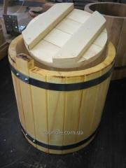 Wooden tub for a pickles from an aspen, 10 l.