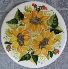 Тарелка керамическая расписная